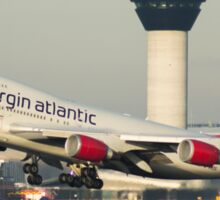Virgin Atlantic 747-400 Departing Manchester Airport Sticker