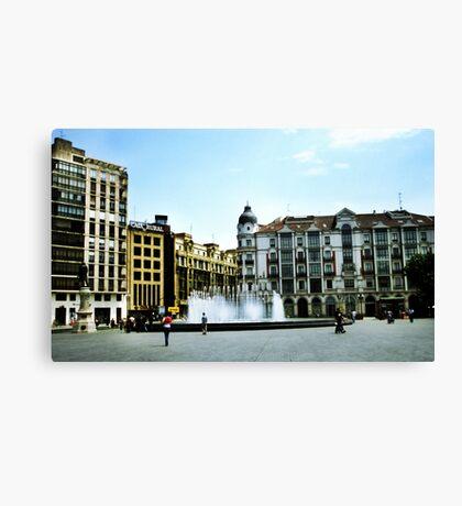Plaza Zorrilla Canvas Print