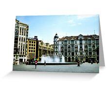 Plaza Zorrilla Greeting Card