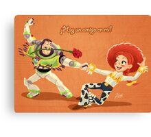 El Buzzo y Jessie Canvas Print
