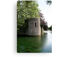 Turret at the Bishops Palace, Wells Canvas Print