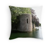 Turret at the Bishops Palace, Wells Throw Pillow