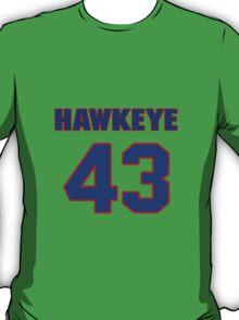 Basketball player Hawkeye Whitney jersey 43 T-Shirt