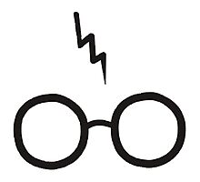 Harry Potter - Glasses and scar Photographic Print