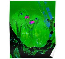 Green Parrots - Rhian B. Poster