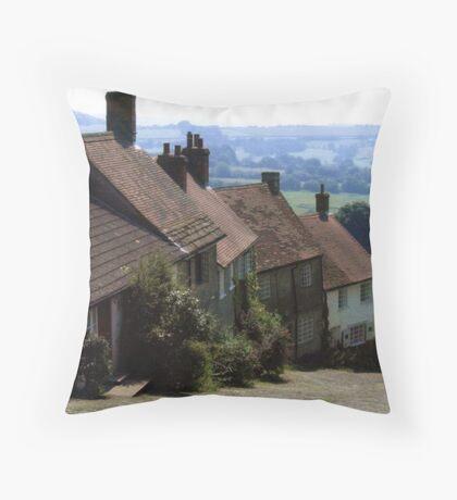 Gold Hill, Shaftsbury Dorset Throw Pillow