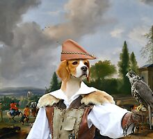 Beagle - Setting off on a falcon hunt by NobilityDogs