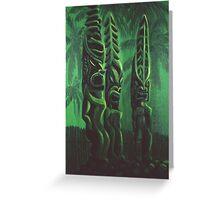 Gods - Hawaiian Sacred Carved Idols Greeting Card