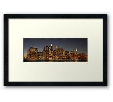 New York Nights Framed Print