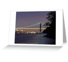 George Washington Bridge - New York Greeting Card