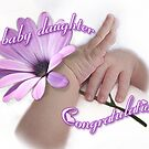 Congratulations -Baby girl by picketty