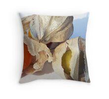 Cape Gooseberry Throw Pillow