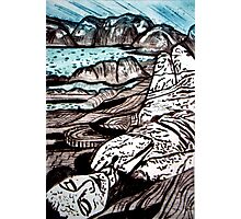 The Lady is the Landscape - Drypoint Etching Photographic Print