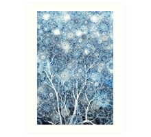 Canopy of Snow Art Print