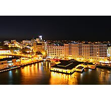 Night Time, San Juan, Puerto Rico Photographic Print