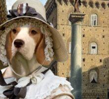 Beagle - Piazza Santa Trinita Firenze Sticker