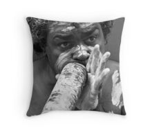 Playing the Didgeridoo Throw Pillow