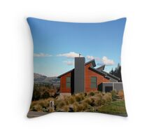 House on a hill in Hanmer Throw Pillow