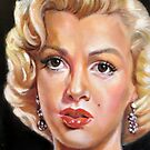portrait of Marilyn Monroe by Hidemi Tada