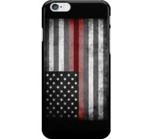 The Thin Red Line - American Firefighter iPhone Case/Skin