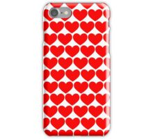 Red Hearts Repeating (Valentines) iPhone Case/Skin