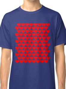 Red Hearts Repeating (Valentines) Classic T-Shirt