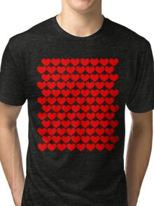 Red Hearts Repeating (Valentines) Tri-blend T-Shirt