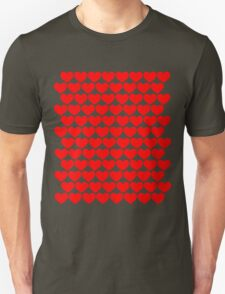 Red Hearts Repeating (Valentines) Unisex T-Shirt