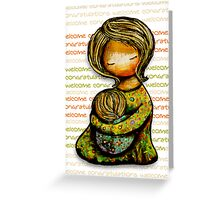 Madonna and Child Welcome Greeting Card