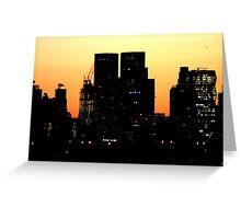Sunrise Manhattan Greeting Card