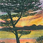 Sun Rise - Oil Pastels by Gordon Pegler