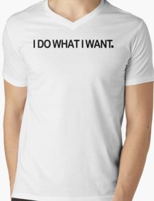 I Do What I Want Funny Geek Nerd Mens V-Neck T-Shirt