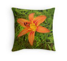 A totally wild flower Throw Pillow
