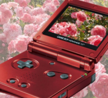 Rose Gameboy Sticker