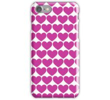 Purple Hearts Repeating (Valentines) iPhone Case/Skin
