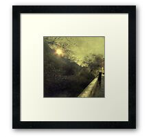 He is all in his life. Framed Print