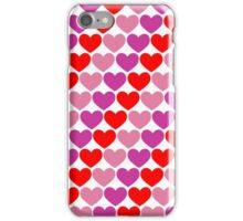 Colourful Hearts Repeating (Valentines) iPhone Case/Skin