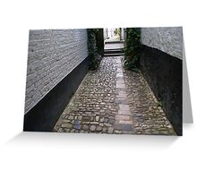 Antwerp - Vlayekensgang pavement Greeting Card
