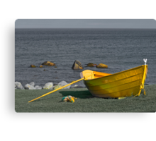 The Yellow Dory  Canvas Print