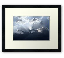 Blue Rays Framed Print