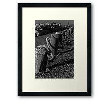 Right Down The Line Framed Print