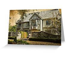 Mock Tudor Style Home Greeting Card