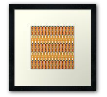 master swords and silver arrows pattern Framed Print