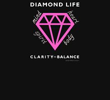 Diamond Life: Clarity ∞ Balance (clean and simple) Womens Fitted T-Shirt