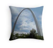 The Gateway Arch Throw Pillow