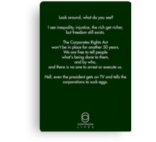 Continuum - Kellogg quote Canvas Print