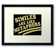 Similes Funny Geek Nerd Framed Print