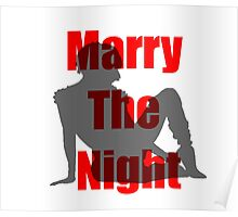 Marry the Night Silhouette Poster