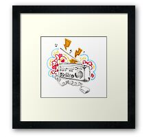 The Airwave Compass Framed Print