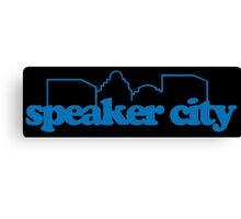 Speaker City Funny Geek Nerd Canvas Print